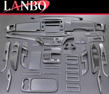 【M's】トヨタ エスティマ 50系 (GSR/ACR50・55)LANBO製 3Dインテリアパネル 42ピースセット (ブラックオーク)//TOYOTA ESTIMA 社外品 ランボ オリジナル 室内パネル ABS樹脂 バーズアイ