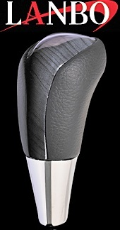 【M's】トヨタ アルファード 10系 MNH/ANH10・15(2002y-2008y)LANBO製 シフトノブ Fタイプ (紺木目)//社外品 ランボ TOYOTA ALPHARD 10アルファード アルファード10
