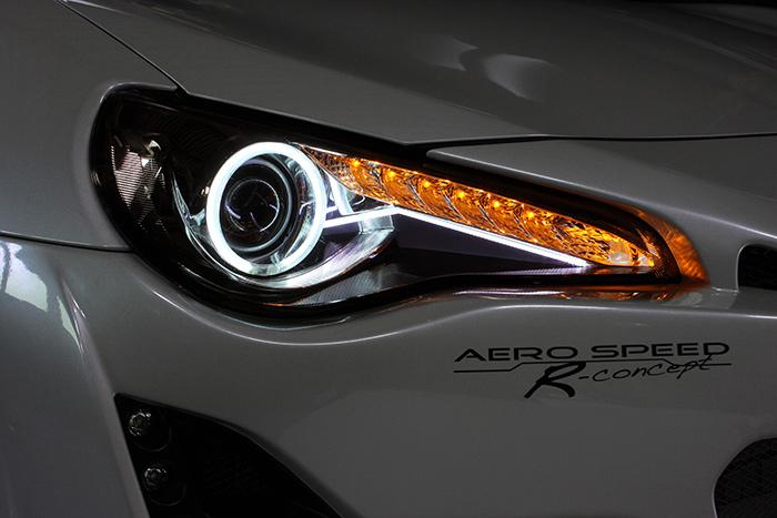 【M's】トヨタ 86 ZN6 FA20 前期用 (12/04-16/07)BLITZ AERO SPEED レーシングヘッドライト 左右SET//ブリッツ エアロスピード R-Concept TOYOTA ハチロク ライト 社外品 未塗装 受注生産品 60161