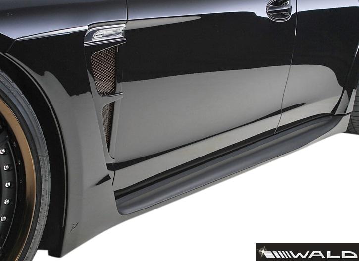 【M's】ポルシェ パナメーラ 970(2009y-2014y)WALD Black Bison サイドステップ 左右//FRP製 ヴァルド バルド エアロ パーツ エアロキット バンパー ブラックバイソン サイドスカート PORSCHE PANAMERA 未塗装 受注生産品