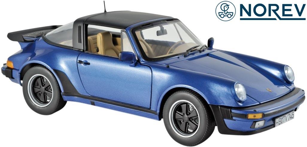 【NOREV】ノレブ 1/18 ポルシェ 911 ターボ タルガ 1987y ミニカー 完成品 (メタリックブルー)//1:18 Porsche ダイキャスト 新品 未開封品 開閉機構有り 玩具 車 名車 187663 3551091876632