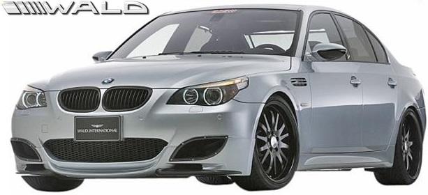 【M's】E60 BMW M5専用 (2004y-) WALD SPORTS LINE エアロ 2点キット//5シリーズ M5 FRP ヴァルド バルド エアロ パーツ エアロキット フロントハーフスポイラー リアディフューザー フルエアロ 未塗装 受注生産品