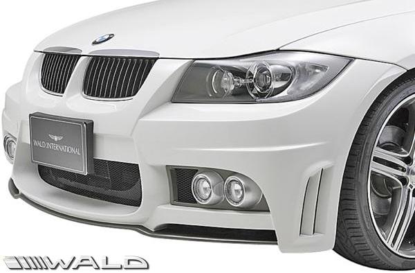 【M's】E90 E91 BMW 3シリーズ 前期 (2005y-2008y) WALD SPORTS LINE フロントバンパースポイラー//セダン ワゴン FRP ヴァルド バルド エアロパーツ バンパー 未塗装 受注生産品 320i 323i 325i 330i 335i
