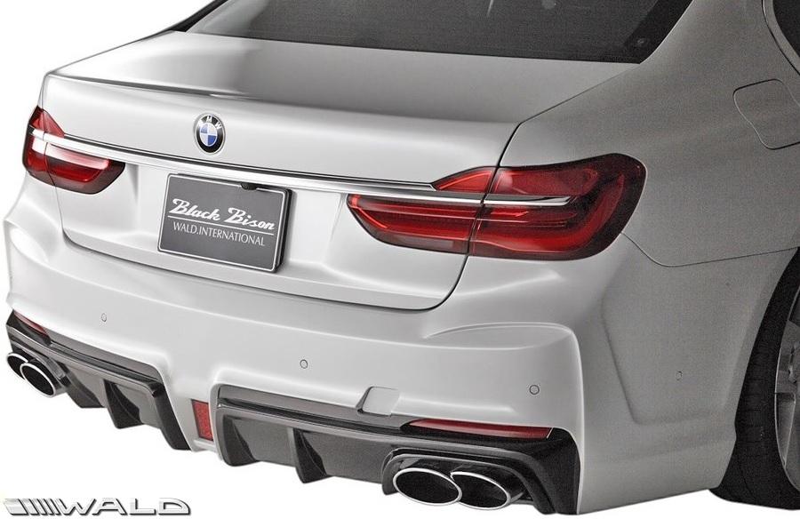 【M's】G12 BMW 7シリーズ(2015y-)WALD Black Bison リアバンパースポイラー//FRP製 ヴァルド バルド エアロ パーツ リヤ バンパー 未塗装 受注生産品