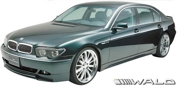 【M's】E65 E66 BMW 7シリーズ 前期用(2001y-2005y)WALD SPORTS LINE ハーフタイプ エアロキット 3点//FRP製 エアロ ヴァルド バルド スポーツライン 735i 745i 745Li 760Li