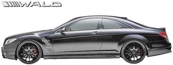 【M's】W216 ベンツ CLクラス 前期(2006y-2010y)WALD Black Bison Edition サイドステップ 左右//C216 CL550 CL600 クーペ FRP ヴァルド バルド サイドスカート エアロパーツ ブラックバイソン エアロ 未塗装 受注生産品