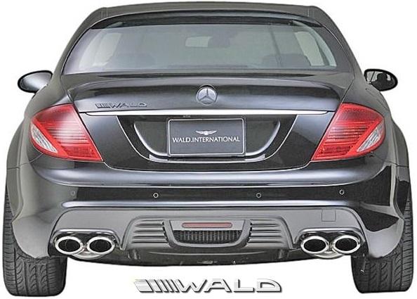 【M's】W216 ベンツ CLクラス 前期(2006y-2010y)WALD Black Bison Edition リアバンパースポイラー//C216 CL550 CL600 クーペ FRP ヴァルド バルド リアスカート リヤバンパースポイラー エアロパーツ バンパー ブラックバイソン エアロ 未塗装 受注生産品