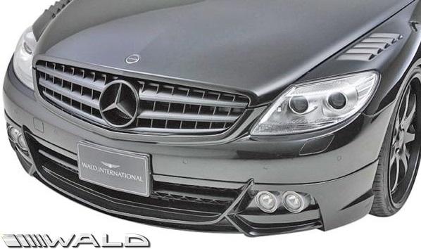 【M's】W216 ベンツ CLクラス 前期(2006y-2010y)WALD Black Bison Edition フロントスポイラー FOG.ver//C216 CL550 CL600 クーペ FRP ヴァルド バルド エアロパーツ バンパー ブラックバイソン エアロ 未塗装 受注生産品