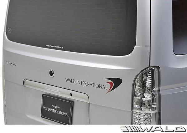 【M's】トヨタ 200系 ナロー ハイエース バン レジアスエース (H16.8-H22.7)WALD EXECUTIVE LINE V2 リアゲートスポイラー//バージョン2 標準車 FRP ヴァルド バルド エアロパーツ エアロキット エアロ