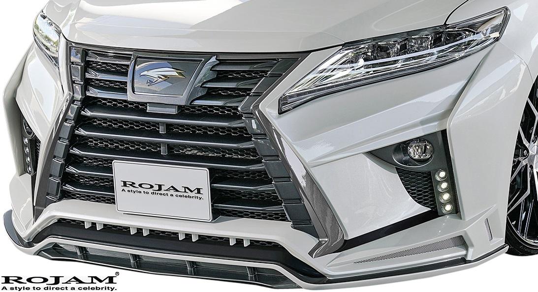 M's トヨタ ハリアー 60系 後期 2017 6- 2020モデル ROJAM IRT GENIK フロントバンパースポイラー Ver.1 LED.Ver 60後期 エアロ バックフォグ 予約 TOYOTA フロントスポイラー バンパー ロジャム デイライト 60ハリアー HARRIER ハリアー60 一体型 FRP