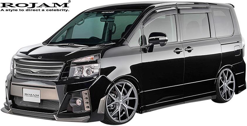 【M's】トヨタ ヴォクシー 70系 後期 (2010/5-2013/12) ROJAM IRT GENIK フルエアロ 3点キット (F+S+R/Ver.2)//Z・ZSグレード 煌 きらめき ZRR7W FRP ロジャム エアロ エアロキット エアロセット TOYOTA VOXY ヴォクシー70 70ヴォクシー ボクシー70 70ボクシー