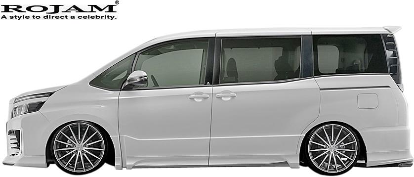 M's トヨタ ヴォクシー 80系 前期 2014 1-2017 6 ROJAM IRT サイドステップモール 2020春夏新作 左右 ZSグレード ZRR80W 80ボクシー サイドエアロ ボクシー ボクシー80 VOXY TOYOTA 贈答 ロジャム 80前期 ヴォクシー80 FRP 80ヴォクシー エアロ サイドスカート 前期80