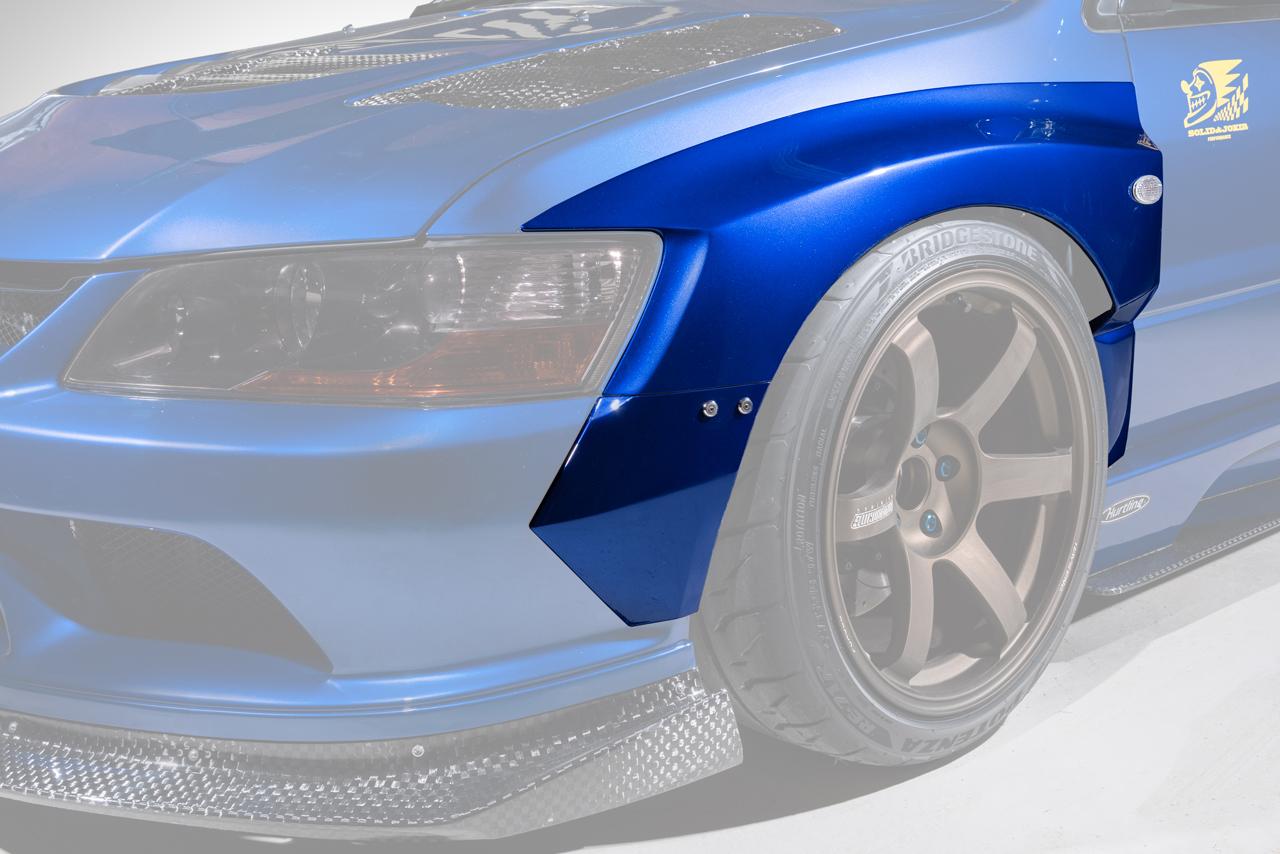 【M's】三菱 EVO9 ランサーエボリューション9 (2005y-2007y) VARIS Solid Joker フロントフェンダーキット 4PCS (片側30mmワイド)//FRP HAM006 バリス ソリッドジョーカー エアロ ランエボ ランエボ9 エボ9 エボ