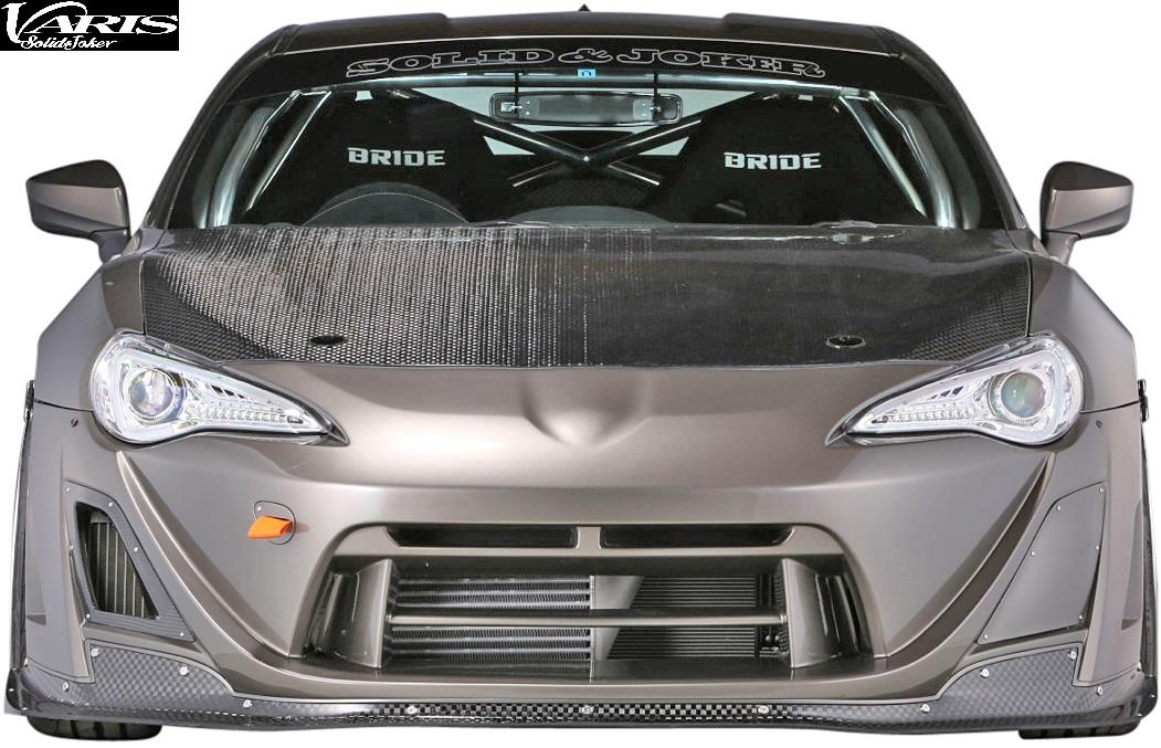 【M's】トヨタ 86 (ZN6) VARIS Solid Joker フロントバンパー+カーボンリップ//HA-T001 FRP 12K-CARBON カーボン バリス ソリッドジョーカー ハチロク エアロ フロントスポイラー バンパー