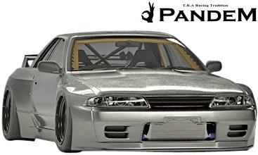 【M's】ニッサン R32 GT-R (1989y-1994y) PANDEM フロントリップ//FRP CARBON カーボン TRA京都 パンデム ロケットバニー ロケバニ エアロ フロントスポイラー リップスポイラー BNR32 スカイライン GTR