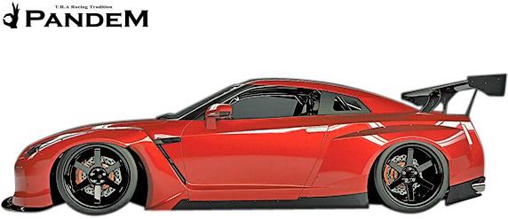 【M's】NISSAN R35 GT-R PANDEM サイドエアロ 左右//FRP TRA京都 パンデム ロケットバニー ロケバニ エアロ サイドステップ サイドスカート ニッサン 日産 スカイライン GTR Wide body kit