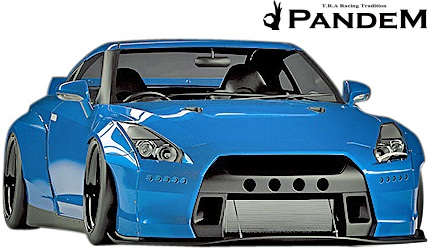 【M's】NISSAN R35 GT-R PANDEM フロントバンパー+リップ 2点セット//CARBON カーボン TRA京都 パンデム ロケットバニー ロケバニ エアロ ニッサン 日産 スカイライン GTR Wide body kit