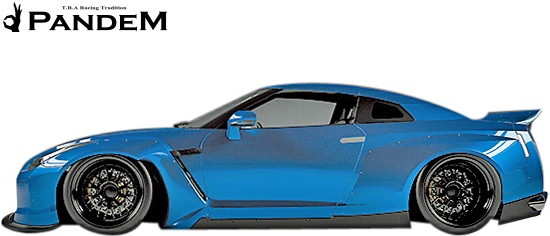 【M's】NISSAN R35 GT-R PANDEM サイドエアロ 左右//CARBON カーボン TRA京都 パンデム ロケットバニー ロケバニ エアロ サイドステップ サイドスカート ニッサン 日産 スカイライン GTR Wide body kit