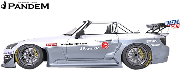 【M's】ホンダ S2000 AP1/AP2 (1999y-2009y) PANDEM サイドスカート 左右//FRP HONDA TRA京都 パンデム ロケットバニー ロケバニ エアロ サイドステップ サイドエアロ Wide body kit