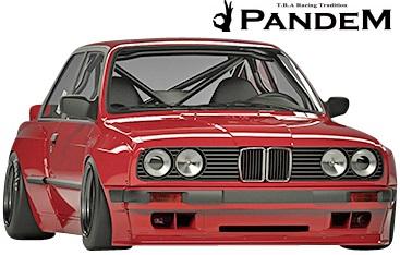 【M's】E30 BMW 3シリーズ (クーペ) PANDEM フロントリップスポイラー//FRP製 TRA京都 パンデム エアロ ロケットバニー ロケバニ リップスポイラー 318i 320i 325i