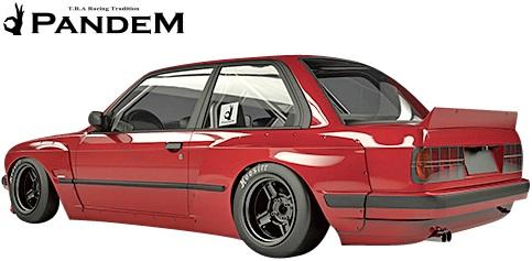 【M's】E30 BMW 3シリーズ (クーペ) PANDEM リアフェンダー 左右 (ワイド)//FRP製 TRA京都 パンデム エアロ ロケットバニー ロケバニ リヤフェンダー ワイドフェンダー オーバーフェンダー 318i 320i 325i