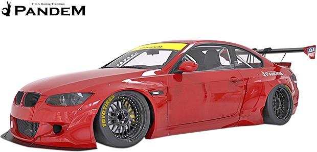 【M's】E92 BMW 3シリーズ 前期 (2006y-2010y) PANDEM フロントフェンダー(片側約:85mmワイド)//FRP製 TRA京都 パンデム エアロ ロケットバニー ロケバニ ワイドフェンダー オーバーフェンダー 2Dクーペ 320i 335i