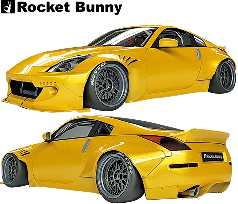 【M's】日産 Z33 フェアレディZ (2002y-2008y) Rocket Bunny ワイドボディキット 4点(FB+FF+RF+RD)//FRP製 TRA京都 ロケットバニー ロケバニ パンデム PANDEM エアロ ワイドフェンダー オーバーフェンダー フルキット フルエアロ エアロキット