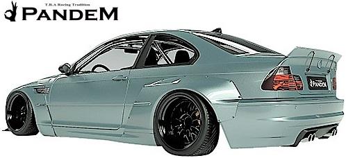 【M's】E46 BMW M3 クーペ (2000y-2006y) PANDEM リアフェンダー(片側約60mmワイド)//3シリーズ FRP製 TRA京都 パンデム エアロ ロケットバニー ロケバニ ワイドフェンダー オーバーフェンダー
