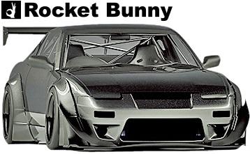 【M's】日産 180sx/240sx RPS13 (1991y-1998y) Rocket Bunny Ver.2 フロントバンパー+リップ+カナード 3点SET//FRP TRA京都 ロケットバニー ロケバニ パンデム PANDEM エアロ ワンビア シルエイティ フロントスポイラー