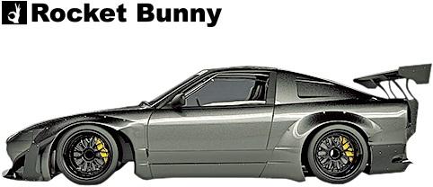 【M's】日産 180sx/240sx RPS13 (1991y-1998y) Rocket Bunny Ver.2 サイドステップ 左右//FRP TRA京都 ロケットバニー ロケバニ パンデム PANDEM エアロ ワンビア シルエイティ サイドスカート サイドスポイラー サイドエアロ