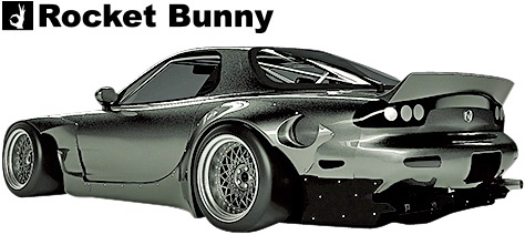 【M's】マツダ RX-7 FD3S (1991y-2002y) Rocket Bunny リアフェンダー (片側約100mmワイド)//MAZDA RX7 FRP製 TRA京都 ロケットバニー ロケバニ パンデム PANDEM エアロ ワイドフェンダー オーバーフェンダー Wide body kit