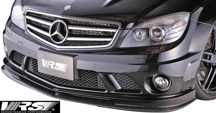 【M's】W204 C63 AMG 前期 (2007y-2011y) VRS フロントスポイラー//バリス VARIS ベンツ Cクラス セダン エアロ CFRP C63AMG VAM-6301