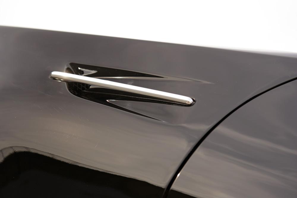 【M's】日産 Z33 350Z フェアレディZ (2002.7-2006.12) DAMD BLACK x METAL フロントフェンダー 左右 (エアーアウトレット)//FRP製 ダムド ニッサン NISSAN FAIRLADY Z ゼット Z350 エアロ フェンダー