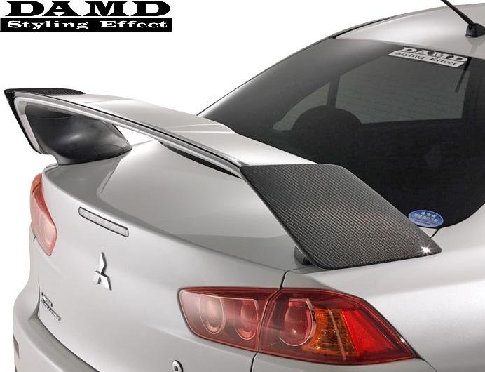 【M's】三菱 ランサーエボリューションX CBA-CZ4A (2007.10-) DAMD リアウィングサイドガーニッシュ//CARBON製 カーボン ダムド エアロ リヤウィングサイドガーニッシュ MITSUBISHI ミツビシ ランエボX ランエボ10 エボX エボ10 EVO10