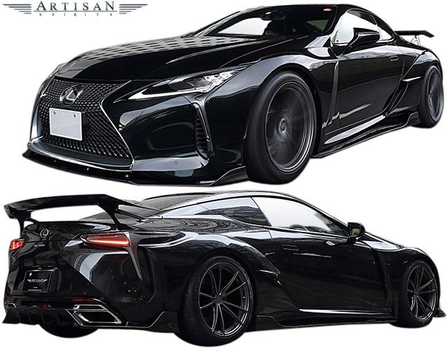 【M's】レクサス LC500 (2017.3-) ARTISAN SPIRITS BLACK LABEL GT エアロ 4Pキット (F+S+R+GTF)//FRP フルエアロ エアロキット アーティシャンスピリッツ アーティシャン アーテシャン ブラックラベルGT LEXUS LC