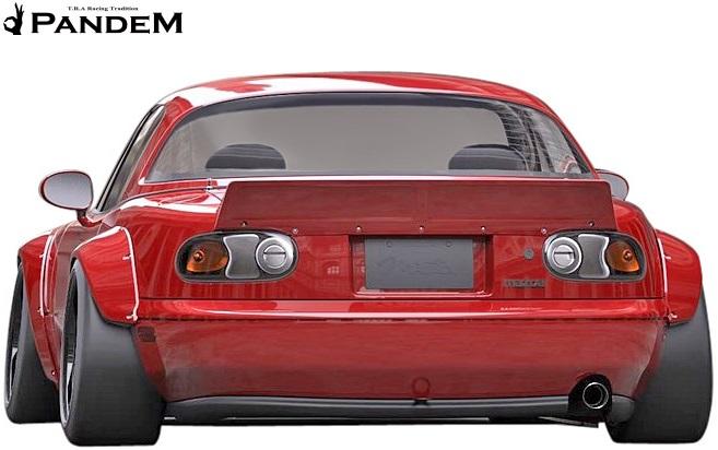 【M's】マツダ ロードスター MX-5 NA6CE/NA8C (1989y-1997y) PANDEM リアダックテール ウイング//FRP パンデム TRA京都 MAZDA ROAD STAR ユーノスロードスター ミアータ エアロ ダックウイング カスタム リトラクタブル