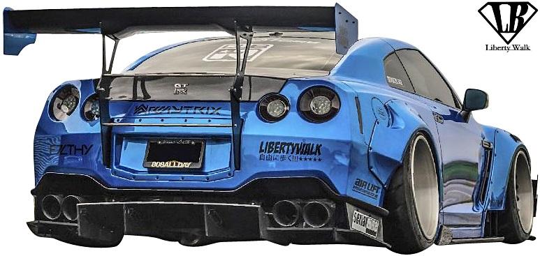 【M's】日産 R35 GT-R (LB-WORKS) リアウイング Ver.3//FRP製 Liberty Walk リバティーウォーク リバティウォーク リバティー リバティ LB エアロ NISSAN ニッサン スカイライン GTR ウイング リヤウイング ダックウイング ダックテールウイング
