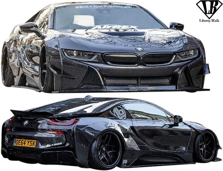 【M's】BMW i8 (2013y-) LB-WORKS コンプリートボディキット Ver.2 (5点SET)//CARBON+FRP Liberty Walk × Y's one リバティーウォーク リバティウォーク リバティー リバティ LB エアロ フルキット フルエアロ エアロキット エアロセット I12 I15 アイエイト カーボン