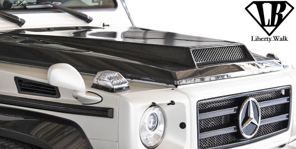 【M's】W463 AMG G63 (2012y-) Liberty Walk LB-WORKS ドライカーボン ボンネットフード//Dry Carbon製 リバティーウォーク リバティウォーク リバティー リバティ LB エアロ ベンツ Gクラス ゲレンデ エアロボンネット クーリングボンネット