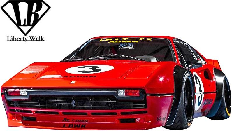 【M's】フェラーリ 308GTB (1975y-1985y) Liberty Walk LB-WORKS フロントバンパー//FRP製 リバティーウォーク リバティウォーク リバティー リバティ LB エアロ バンパー FERRARI 308 GTB 308フェラーリ