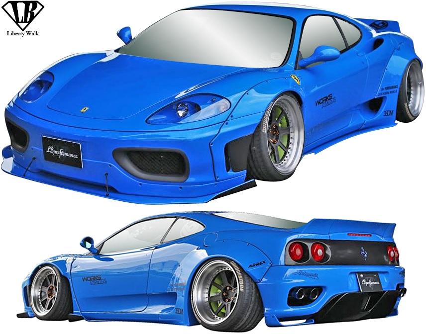 【M's】フェラーリ 360 (1999y-2005y) LB-WORKS Ver.2 コンプリートボディキット 5点/CFRP+FRP カーボン Liberty Walk リバティーウォーク リバティウォーク リバティー リバティ LB 360モデナ 360スパイダー F1 Ferrari エアロ フルエアロ セット エアロキット フルキット