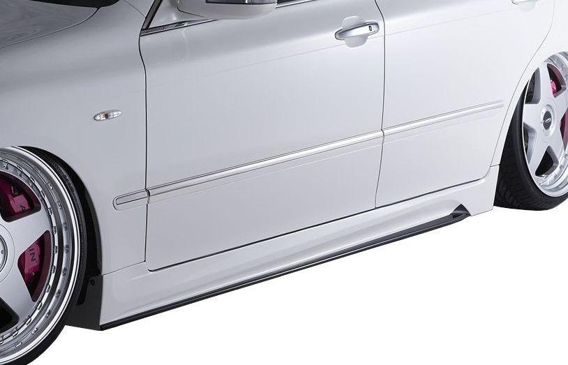 【M's】クラウン アスリート 18 後期(H17.10-H20.1)サイド ステップ / AIMGAIN エアロ // トヨタ TOYOTA CROWN ATHLETE GRS 180 181 184 / 純VIP GT SIDE STEP