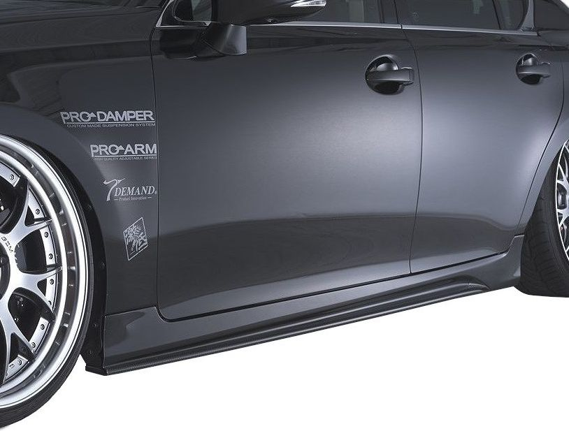 【M's】LEXUS GS 10 系 前期(H24.1-H27.10)サイド ステップ FRP / AIMGAIN エアロ // レクサス GS 250 350 450h 全グレード / 純VIP EXE side step