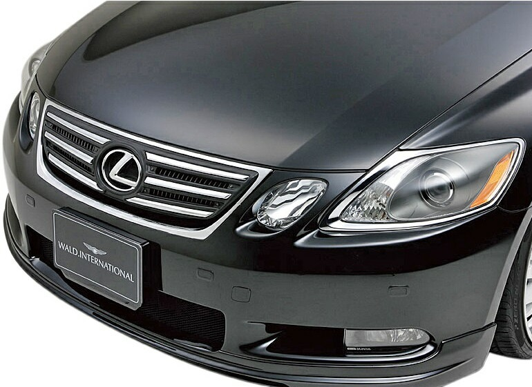 【M's】レクサス GS GRS/UZS190(H17.8-H19.10)WALD フロントグリル(純正カバータイプ)//ABS ヴァルド バルド Executive LINE エグゼクティブライン エアロ LEXUS GS350 GS430 未塗装 素地