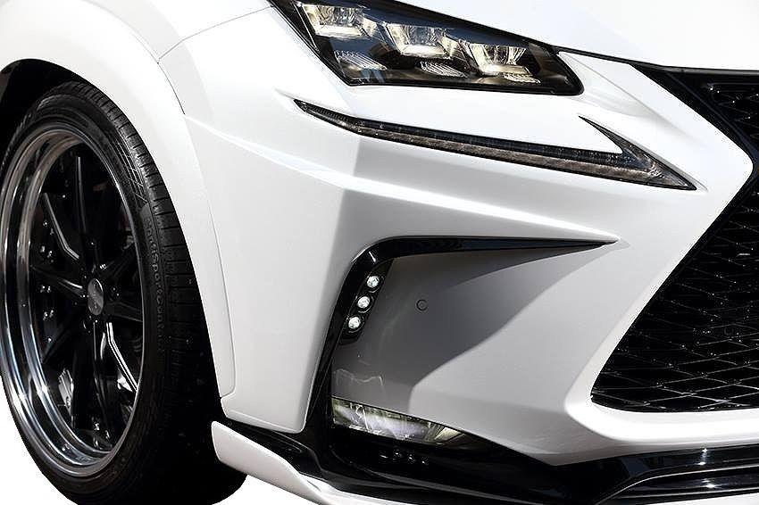 【M's】レクサス NX LED フロント バンパー ガーニッシュ 左右 200t 300h / ARTISAN SPIRITS / アーティシャン スピリッツ エアロ // Sports line BLACK LABEL / LEXUS NX / AGZ10 AGZ15 AYZ10 AYZ15