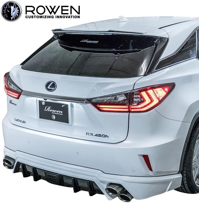 【M's】レクサス 20系 RX Fスポーツ 前期 (2015.10-2019.7) ROWEN ルーフスポイラー//FRP ロェン エアロ ルーフウイング ロウェン ローウェン ロエン ローエン カスタム シンプル LEXUS 450h 200t 300 20RX GYL20 AGL20 1L005R00