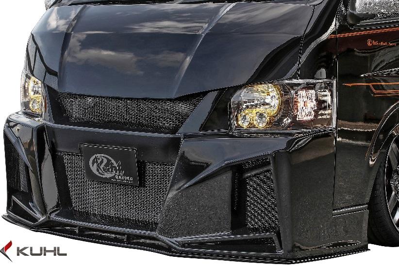 【M's】トヨタ 200系 ハイエース 4型 (ワイド用) Kuhl Racing 200W-GT フロントバンパー//FRP SGグレード クールレーシング エアロ TOYOTA HIACE 200ハイエース ハイエース200 WIDE カスタム