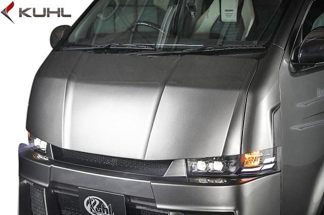 【M's】トヨタ 200系 ハイエース 4型 (ナロー/標準車) Kuhl Racing 200V-GT レーシングボンネット Ver.1//クールレーシング エアロ エアロボンネット FRP SG TOYOTA HIACE 200ハイエース ハイエース200 クール カスタム