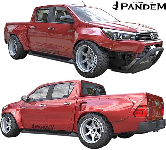 【M's】トヨタ ハイラックス GUN125 (2017.9-) PANDEM ワイドボディキット 5点//パンデム エアロ カスタム シンプル オーバーフェンダーキット ワイドフェンダー フルエアロ エアロキット エアロセット フルキット HILUX 125ハイラックス 新型 現行型 現行モデル