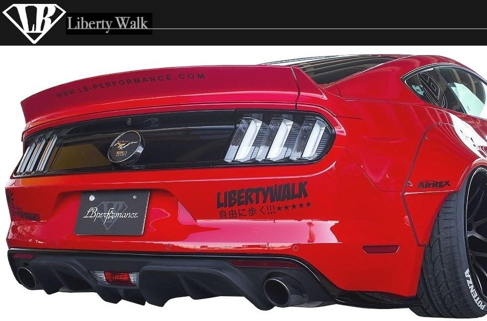 フォード マスタング LB ダック テール Liberty Walk エアロ / FORD MUSTANG duck tail トランク スポイラー リア ウイング